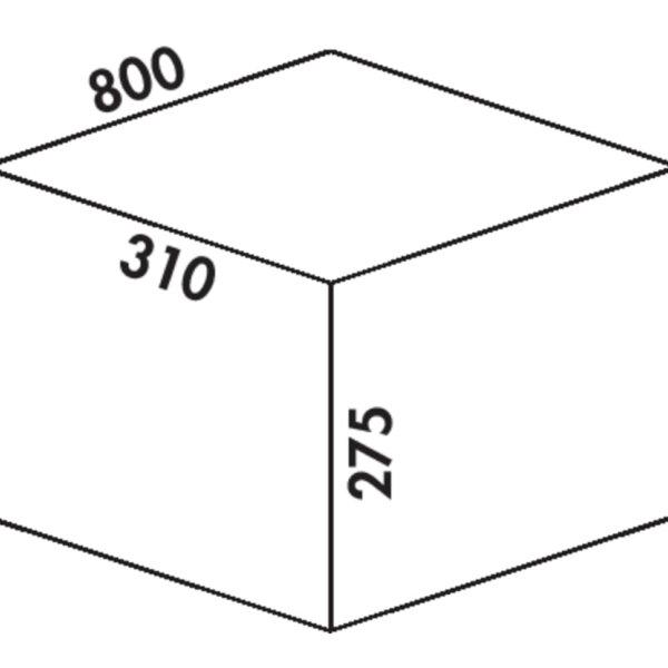 Coxィ Box 275 K/800-3, Afvalverzamelsysteem voor voorhanden uittreksystemen., met biologisch deksel, lichtgrijs