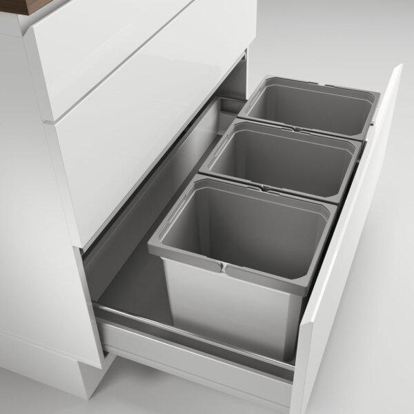 Cox® Box 275 K/900-3, Afvalsysteem voor gangbare uittreksystemen, zonder biologisch deksel, lichtgrijs
