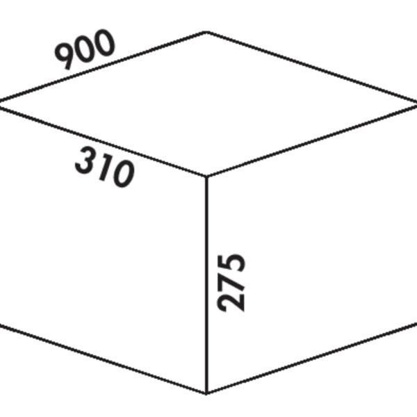 Coxィ Box 275 K/900-3, Afvalverzamelsysteem voor voorhanden uittreksystemen., met biologisch deksel, lichtgrijs