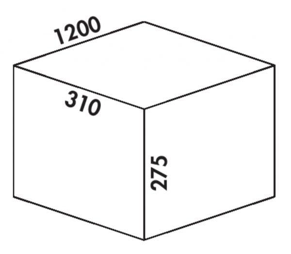 Coxィ Box 275 K/1200-5, Afvalverzamelsysteem voor voorhanden uittreksystemen., met biologisch deksel, lichtgrijs
