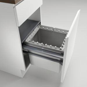 Cox Castィ 450-1, Afvalverzamelsysteem voor voorhande kozijnen., lichtgrijs , H 360 mm