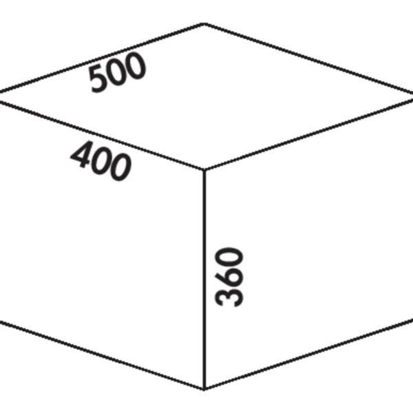 Cox Castィ 500-2, Afvalverzamelsysteem voor voorhande kozijnen., lichtgrijs , H 360 mm