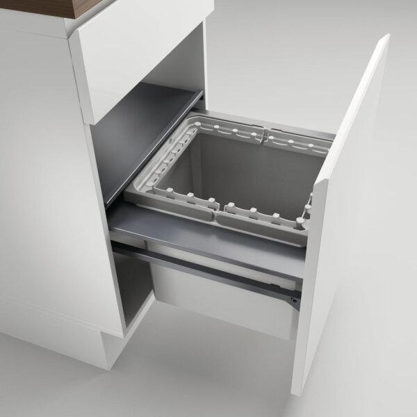 Cox Castィ 500-1, Afvalverzamelsysteem voor voorhande kozijnen., lichtgrijs , H 360 mm