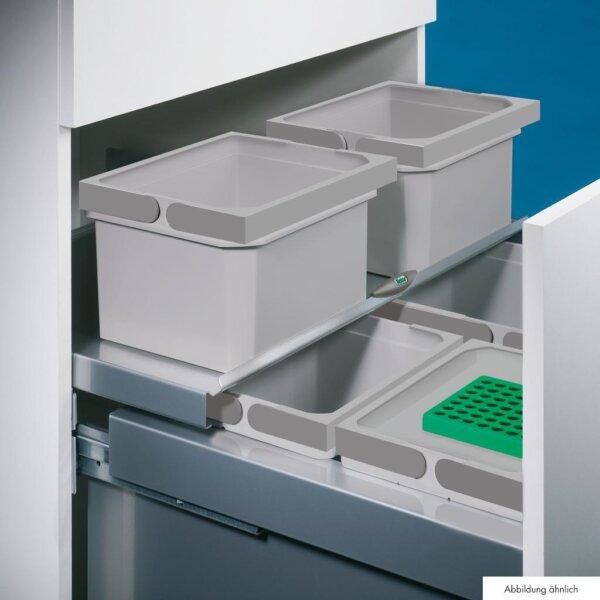 Coxィ Base Afzonderlijke emmer, Afvalverzamelsysteem voor Frontuittreksysteem., antraciet
