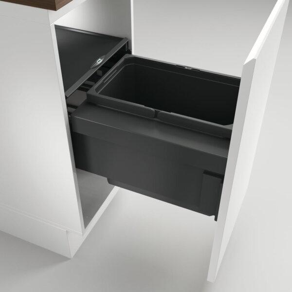 Cox® Base 360 S/400-1, afvalsysteem voor Frontuittreksysteem, antraciet, H 360 mm