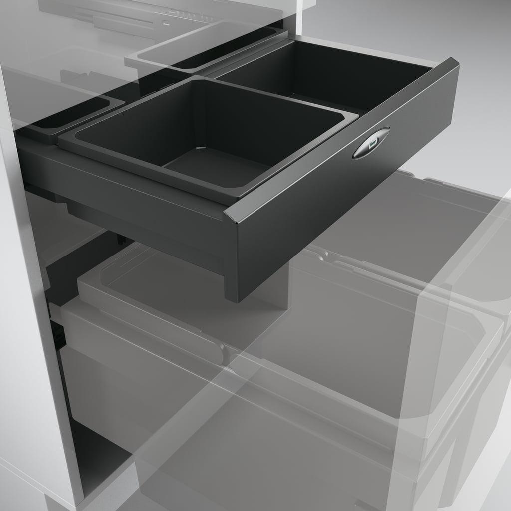 Cox Base-Board® 500, afvalsysteem voor Frontuittreksysteem, antraciet