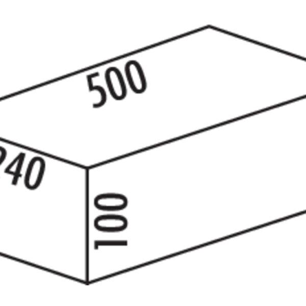 Cox Base-Boardィ 500, Afvalverzamelsysteem voor Frontuittreksysteem., antraciet