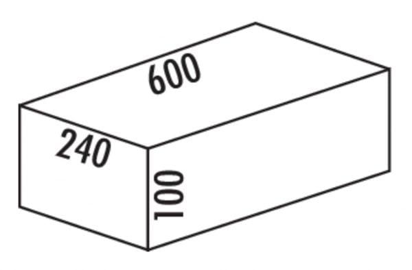 Cox Base-Boardィ 600, Schuiflade voor benodigdheden., antraciet