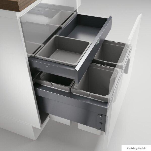 Cox® Base 360 S/600-4 met Base-Board, afvalsysteem voor Frontuittreksysteem, zonder biologisch deksel, antraciet, H 460 mm