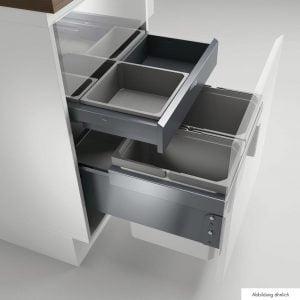 Cox® Base 360 K/500-2 met Base-Board, afvalsysteem voor Frontuittreksysteem, zonder biologisch deksel, antraciet, H 460 mm