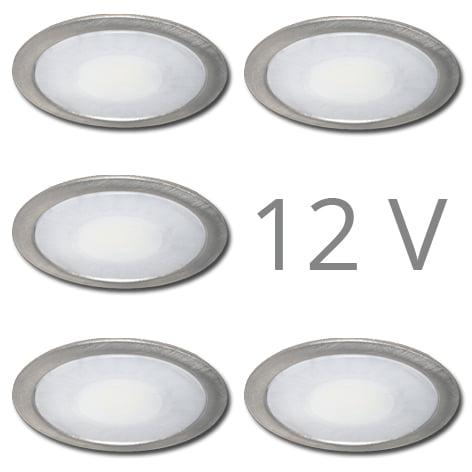 90 1103 - FORMA Sun led set 12V inbouw 5 x 2,4 Watt