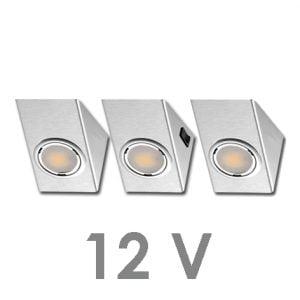 90 1121 300x300 - FORMA OMEGA LED-set 12V 3 x 2,4 Wattincl. dimmer / afstandbediening