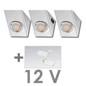90 1125 300x300 - FORMA DELTA Mini LED set 12V 3 x 2,4 Watt incl. dimmer / afstandbediening