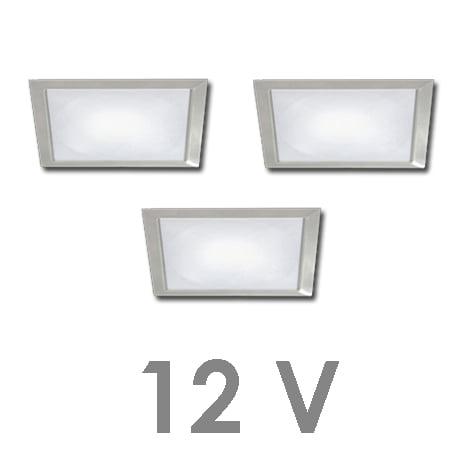 90 1131 - FORMA Sun Q led set 12V inbouw 3 x 2,4 Watt