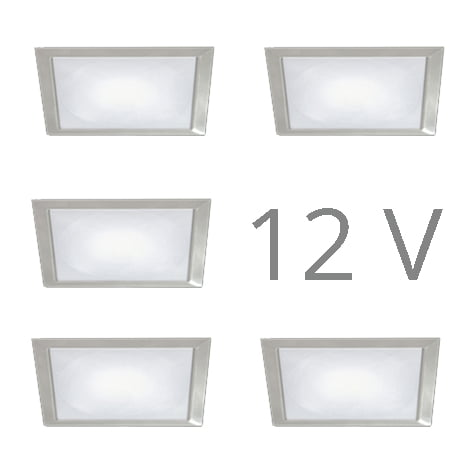 90 1133 - FORMA Sun Q led set 12V inbouw 5 x 2,4 Watt