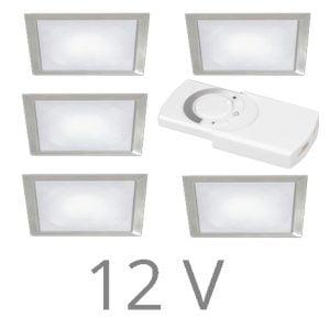 90 1137 300x300 - FORMA Sun Q led set 12V inbouw 5 x 2,4 Watt