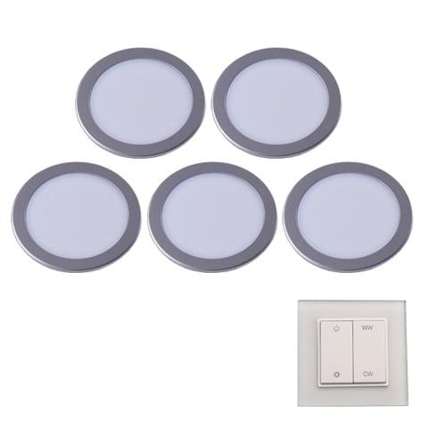 90 3115 - L&S LED spot Moonlight Emotion set 5 x 3,6 Watt