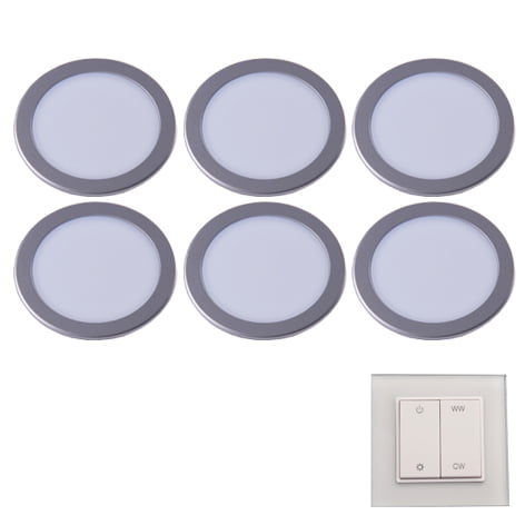 90 3116 - L&S LED spot Moonlight Emotion set 6 x 3,6 Watt