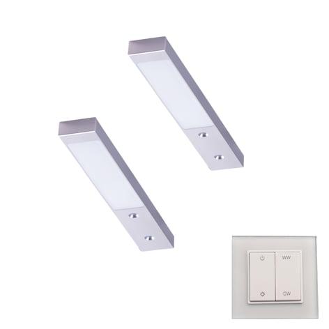 90 3132 - L&S LED spot Rettangolo Emotion set 2 x 3,1 Watt