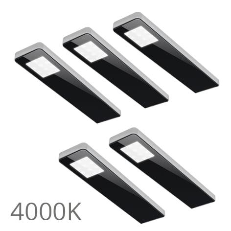90 5369 - FORMA Key panel set 5 x 5,0 Watt zwart 4000K