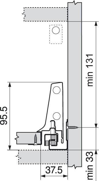 ANTARO Blum lade B Blumotion 160mm