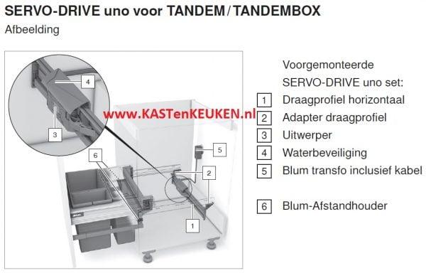 BLUM SERVO DRIVE UNO HANGEND 600x384 - Blum SERVO DRIVE Uno hangende lade (ladegeleiders halverwege kast)