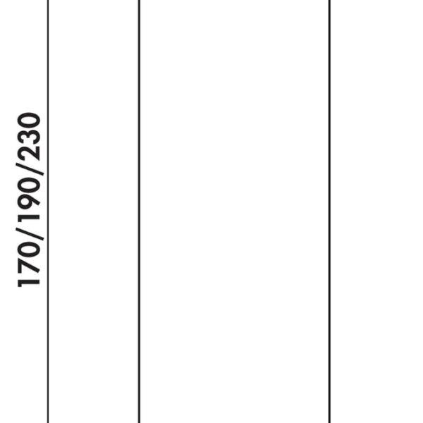 Kreta 2 recht, Console Barsteun, roestvrij staalkleurig, H 230 mm