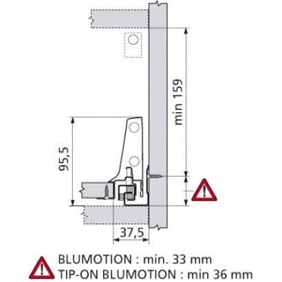 ANTARO Blum lade CM Blumotion 196mm