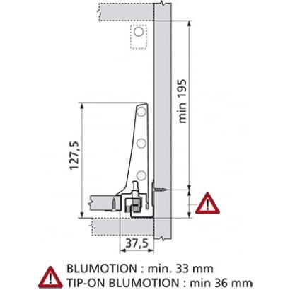ANTARO Blum lade DK Blumotion 228mm