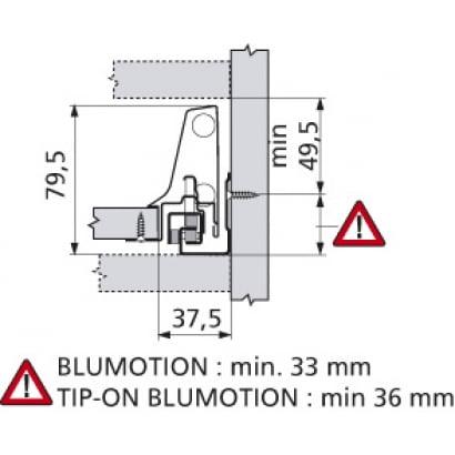 ANTARO Blum lade N Blumotion 83mm