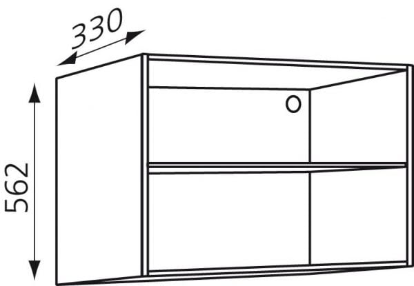 Bovenkast keukenkast zelfbouw 352/562