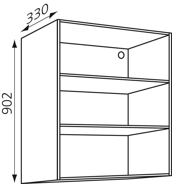 Bovenkast keuken H902mm zelfbouw Wit