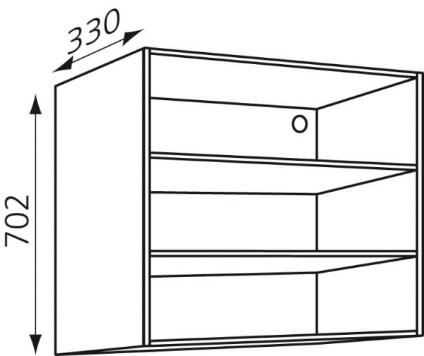 Bovenkast keuken H702mm zelfbouw Wit