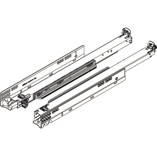 Blum MOVENTO ladegeleiders 700mm met BLUMOTION 60kg Belastbaar
