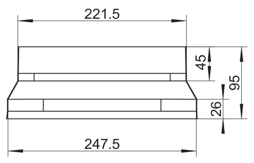 Compair Steel Flow luchtafvoer BORA Adapter SF-BA detailfoto