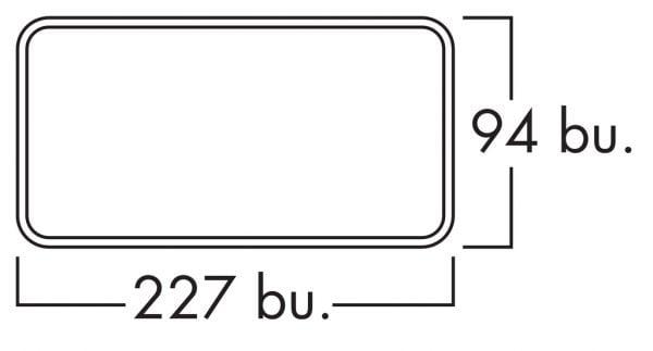 E-Jal Col Flow 150 Platte Buis Muurdoorvoer Naber Compair Flow 150