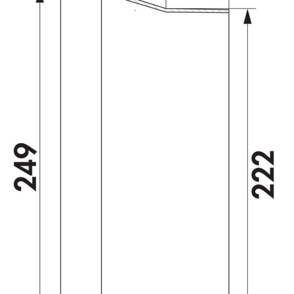 F-BA 150 BORA verloopstuk COMPAIR FLOW 150 detailtekening