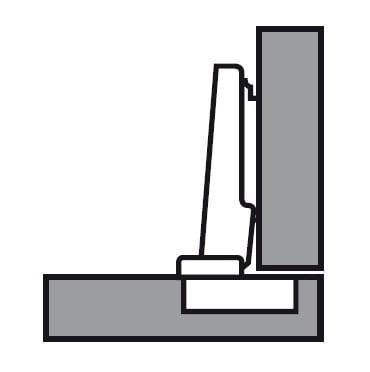 71b3550 Blum CLIP top scharnier 110° hoekaanslag Blumotion