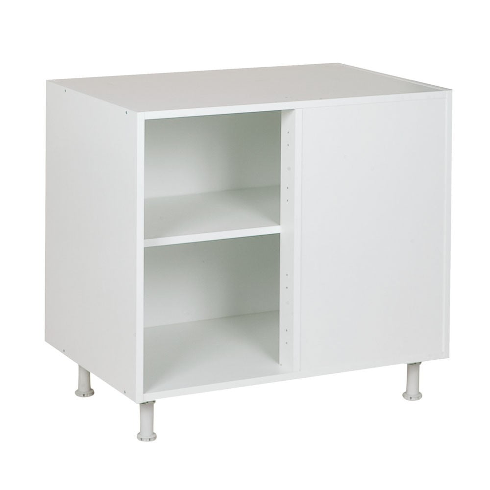 Hoekkast, kleur wit, H702mm, Keukenkasten zonder front,