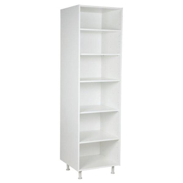 Hoge kast, kleur wit, H2200mm, Keukenkasten zonder front,