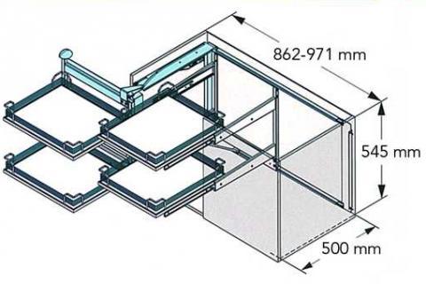 MAGIC CORNER COMFORT KESSEBOHMER 1000mm Links ARENA CLASSIC