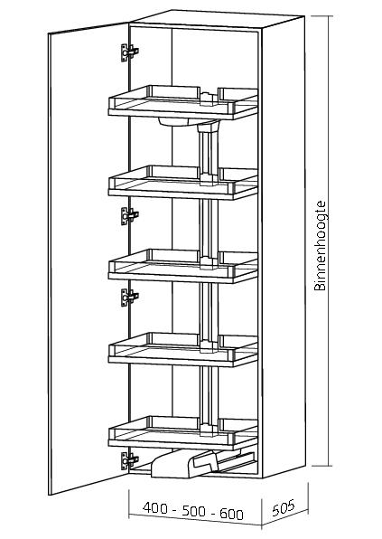 KESSEBOHMER CONVOY LAVIDO APOTHEKERSKAST inbouwhoogte 2200-2299mm