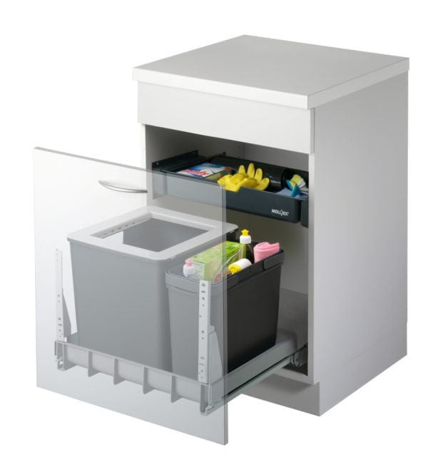 Mullex Euro Boxx 55/60R afvalsysteem voor uittrekfront