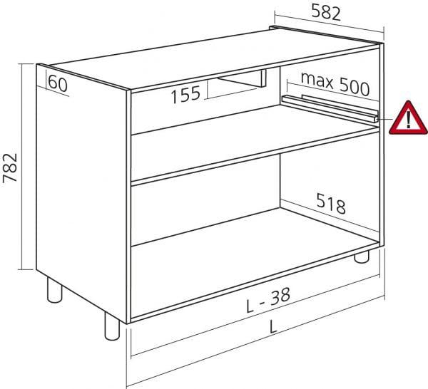 Onderkast keukenkast zelfbouw H 782