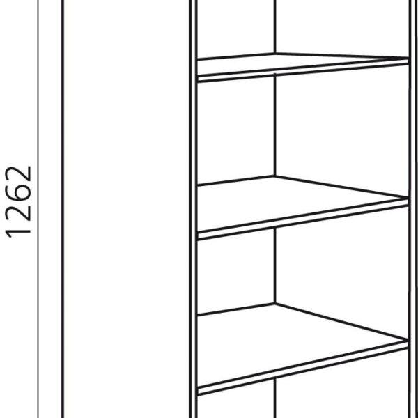 Opzetkast keuken zelfbouw H1262mm
