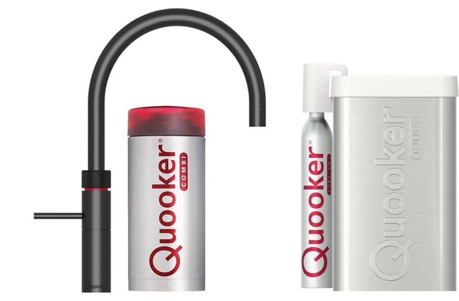 Quooker COMBI 2.2 en CUBE Fusion Round Zwart