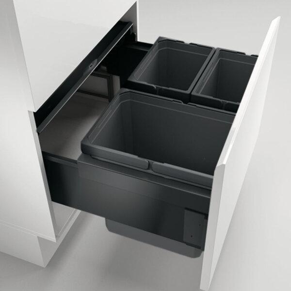 S13853 8013489 100 600x600 - Cox® Base 360 K/600-3, Afvalverzamelaar met frontuittreksysteem, met biologisch deksel, antraciet, H 360mm