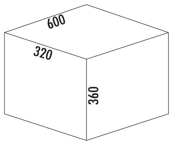 S13853 S13853 200 600x504 - Cox® Base 360 K/600-3, Afvalverzamelaar met frontuittreksysteem, met biologisch deksel, antraciet, H 360mm
