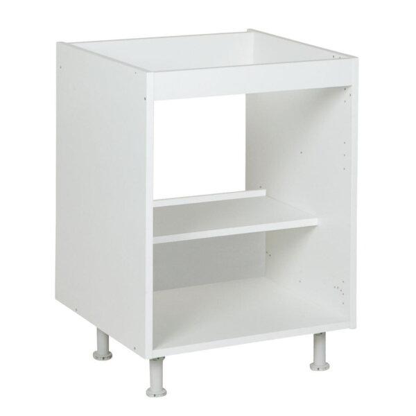 Onderkast voor spoelbak, kleur wit, H702mm, Keukenkasten zonder front,