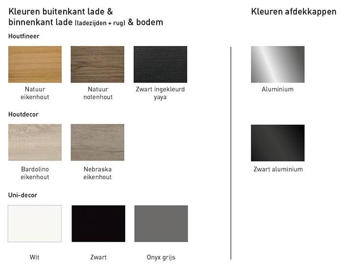 Blum TAOR kleuren